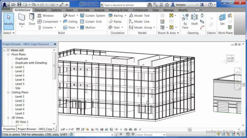 آموزش مدل سازی حرفه ایی درRevit