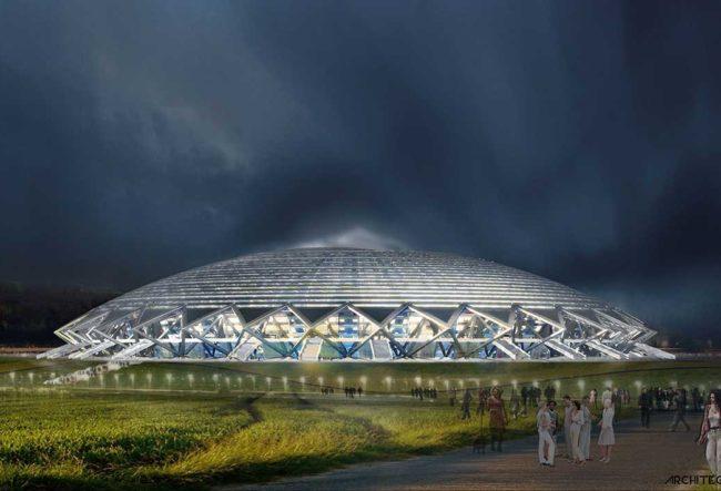 طراحی ورزشگاه کاسموس آرنا برای جام جهانی 2018 روسیه