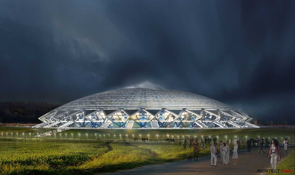 طراحی ورزشگاه کاسموس آرنا برای جام جهانی 2018 روسیه - samara arena stadium 7