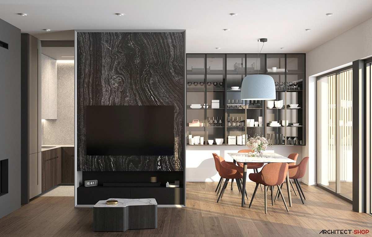 طراحی داخلی 3 نمونه آپارتمان با تم خاکستری - Grey Based Decor 10