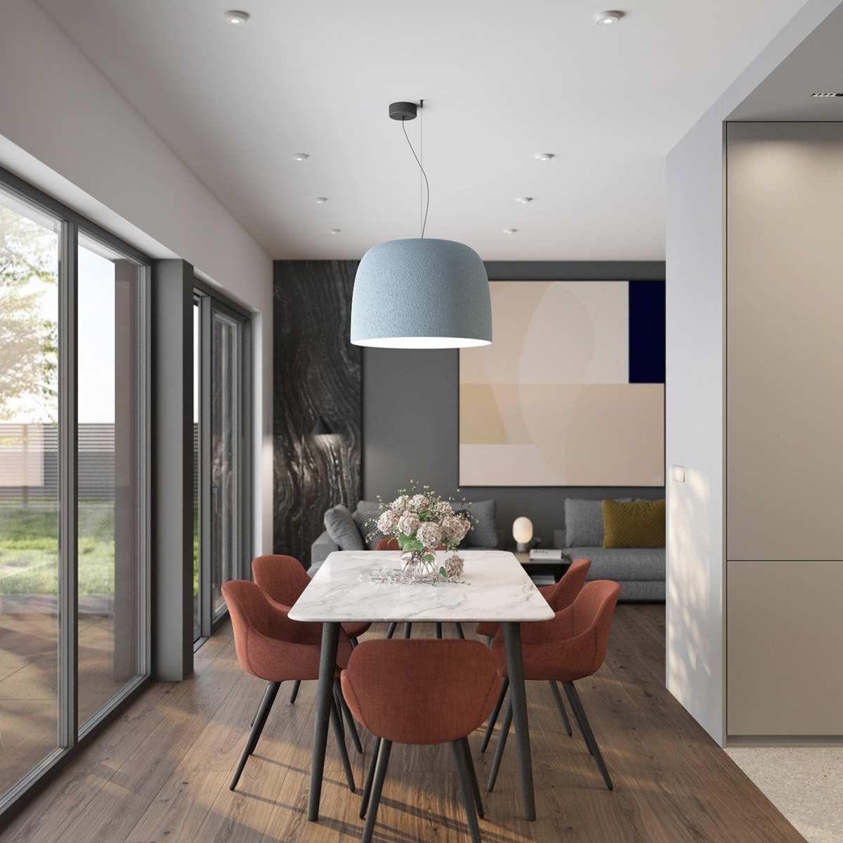طراحی داخلی 3 نمونه آپارتمان با تم خاکستری - Grey Based Decor 111