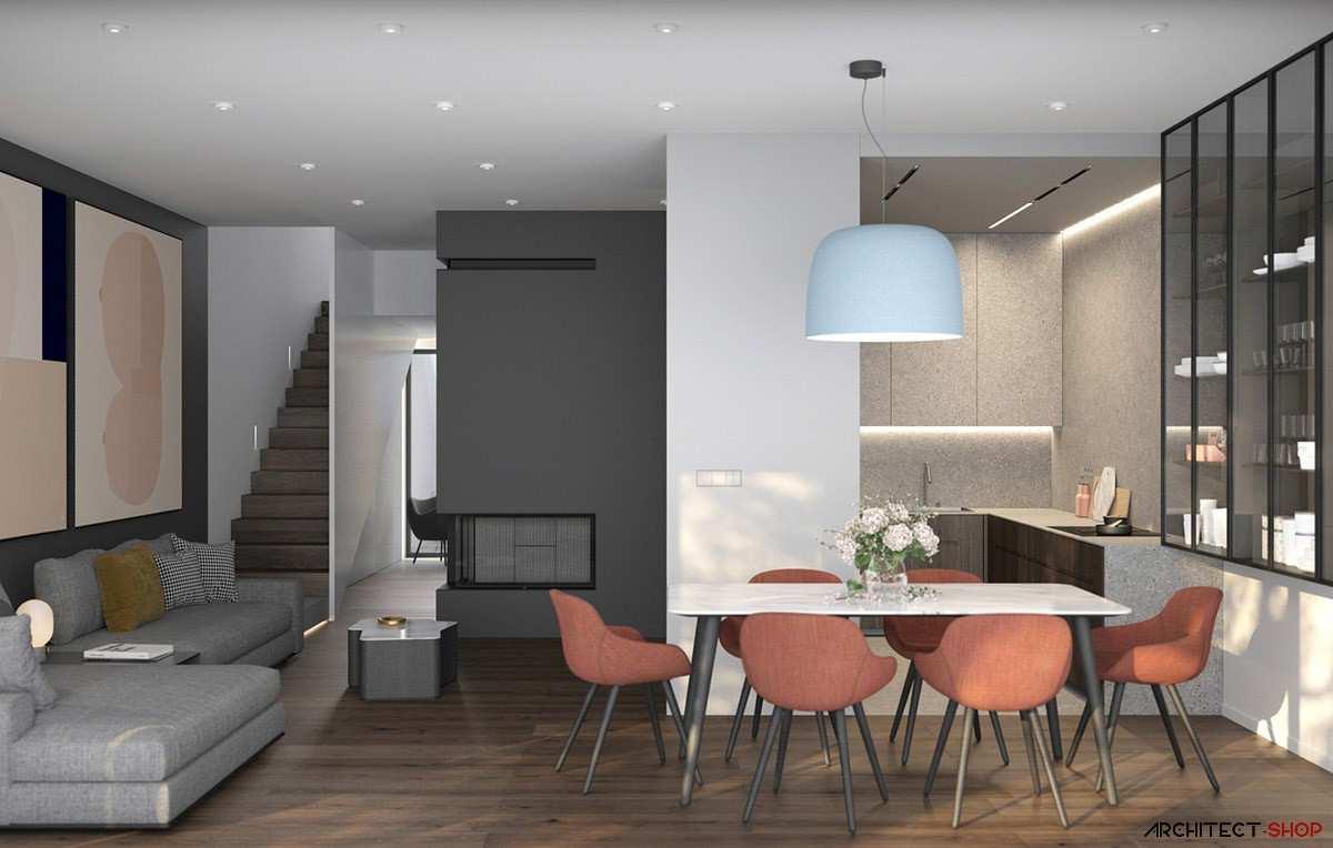 طراحی داخلی 3 نمونه آپارتمان با تم خاکستری - Grey Based Decor 12