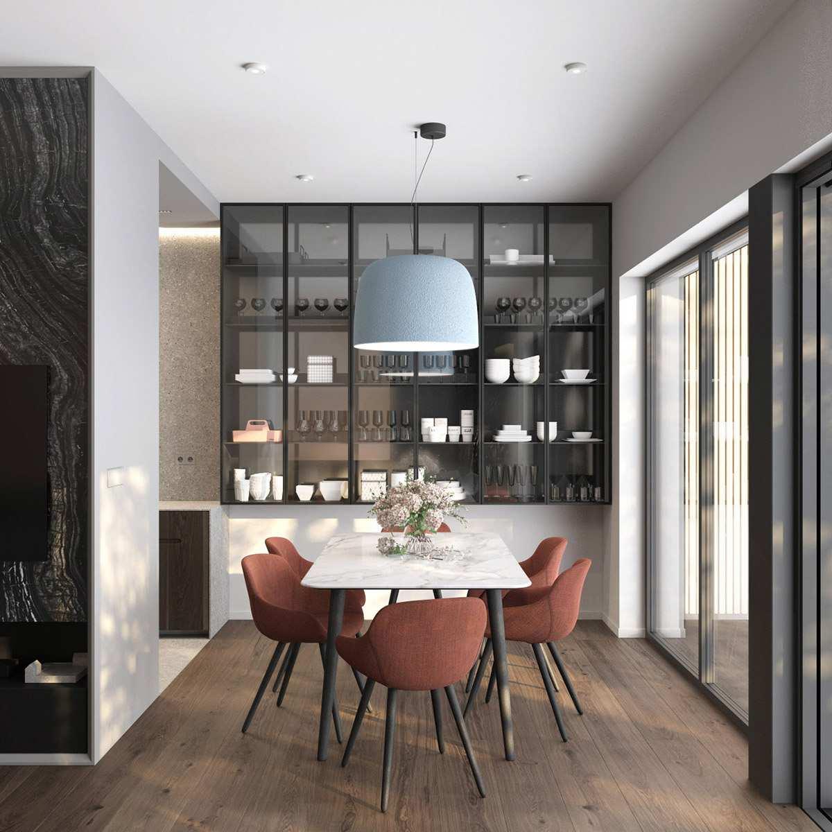 طراحی داخلی 3 نمونه آپارتمان با تم خاکستری - Grey Based Decor 13