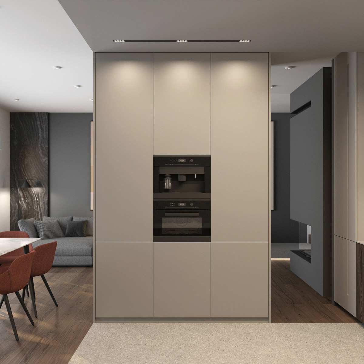 طراحی داخلی 3 نمونه آپارتمان با تم خاکستری - Grey Based Decor 16