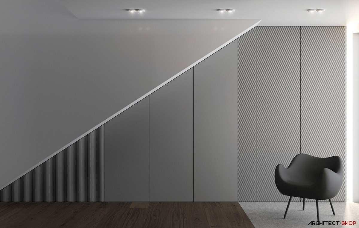 طراحی داخلی 3 نمونه آپارتمان با تم خاکستری - Grey Based Decor 17