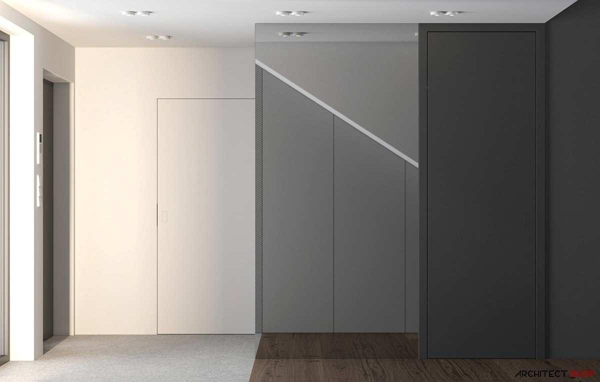 طراحی داخلی 3 نمونه آپارتمان با تم خاکستری - Grey Based Decor 18