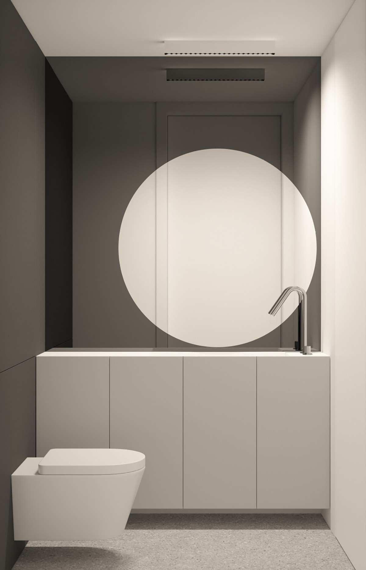 طراحی داخلی 3 نمونه آپارتمان با تم خاکستری - Grey Based Decor 20