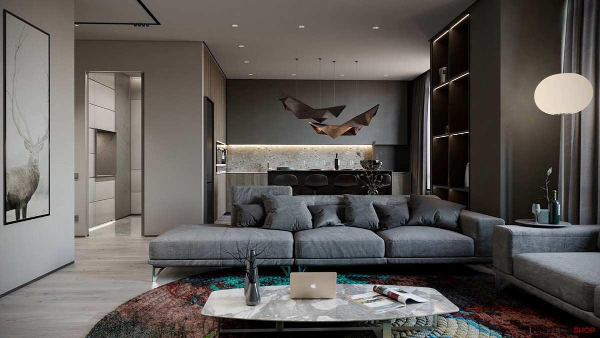 طراحی داخلی 3 نمونه آپارتمان با تم خاکستری - Grey Based Decor 25