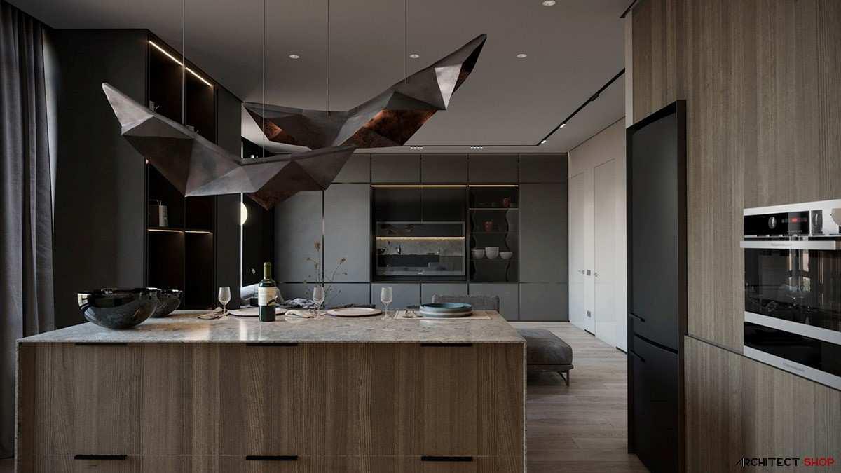 طراحی داخلی 3 نمونه آپارتمان با تم خاکستری - Grey Based Decor 27
