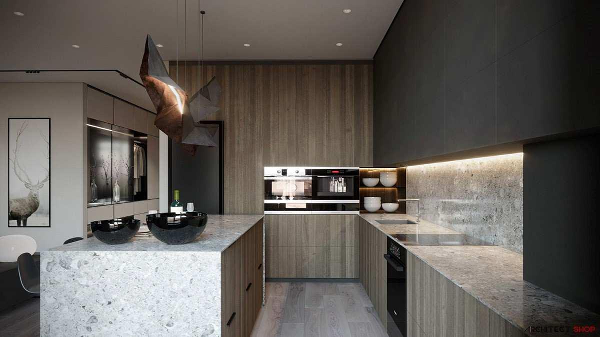 طراحی داخلی 3 نمونه آپارتمان با تم خاکستری - Grey Based Decor 28