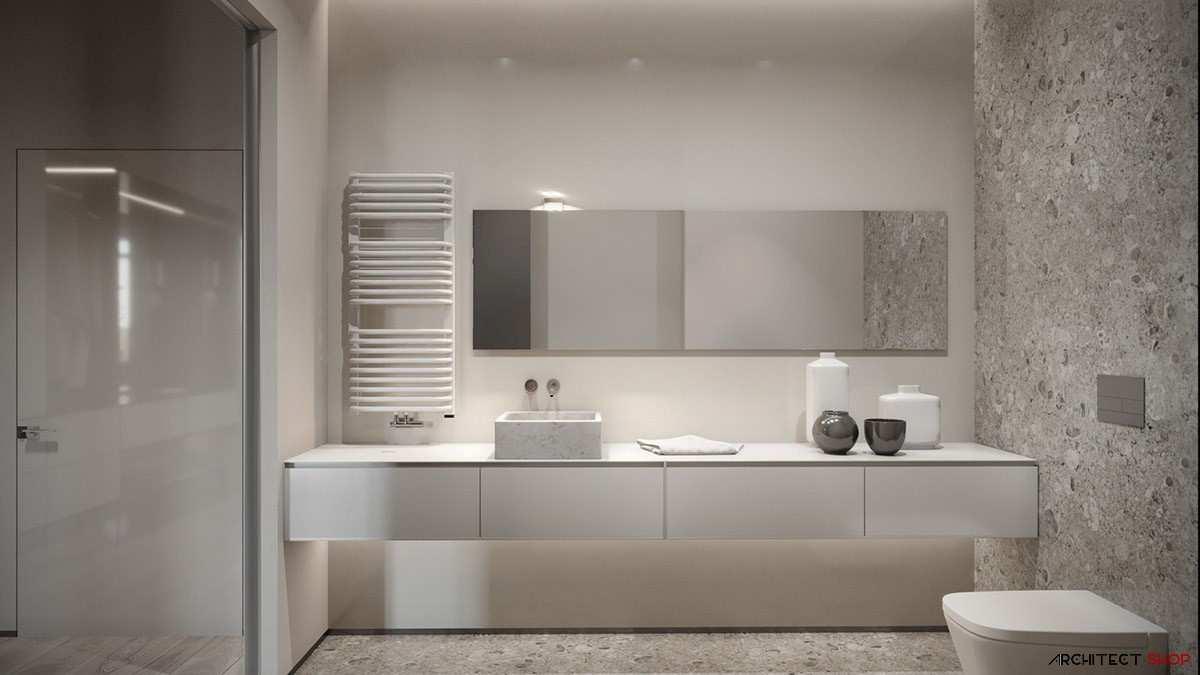 طراحی داخلی 3 نمونه آپارتمان با تم خاکستری - Grey Based Decor 30