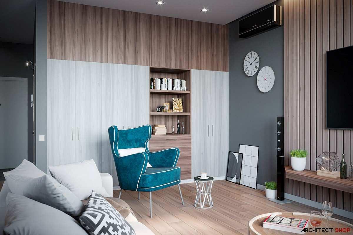 طراحی داخلی 3 نمونه آپارتمان با تم خاکستری - Grey Based Decor 31