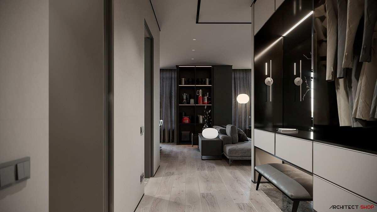 طراحی داخلی 3 نمونه آپارتمان با تم خاکستری - Grey Based Decor 311