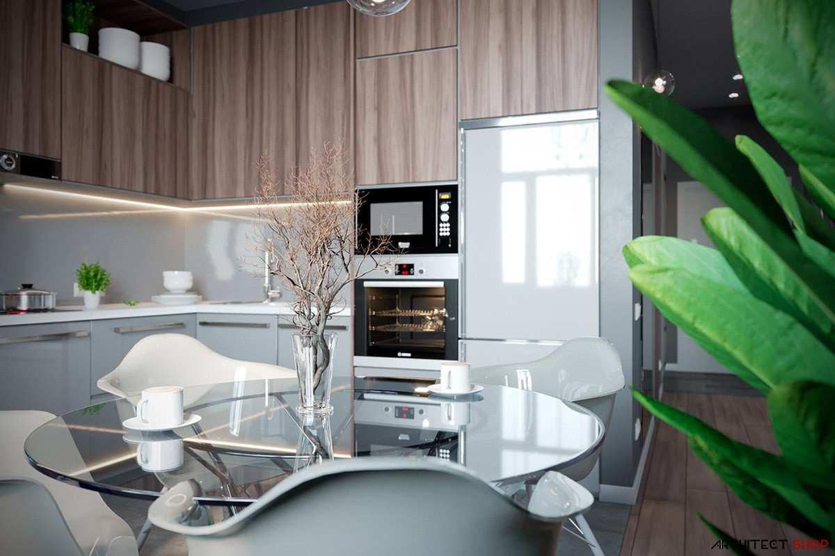 آپارتمان با دکوراسیون خاکستری