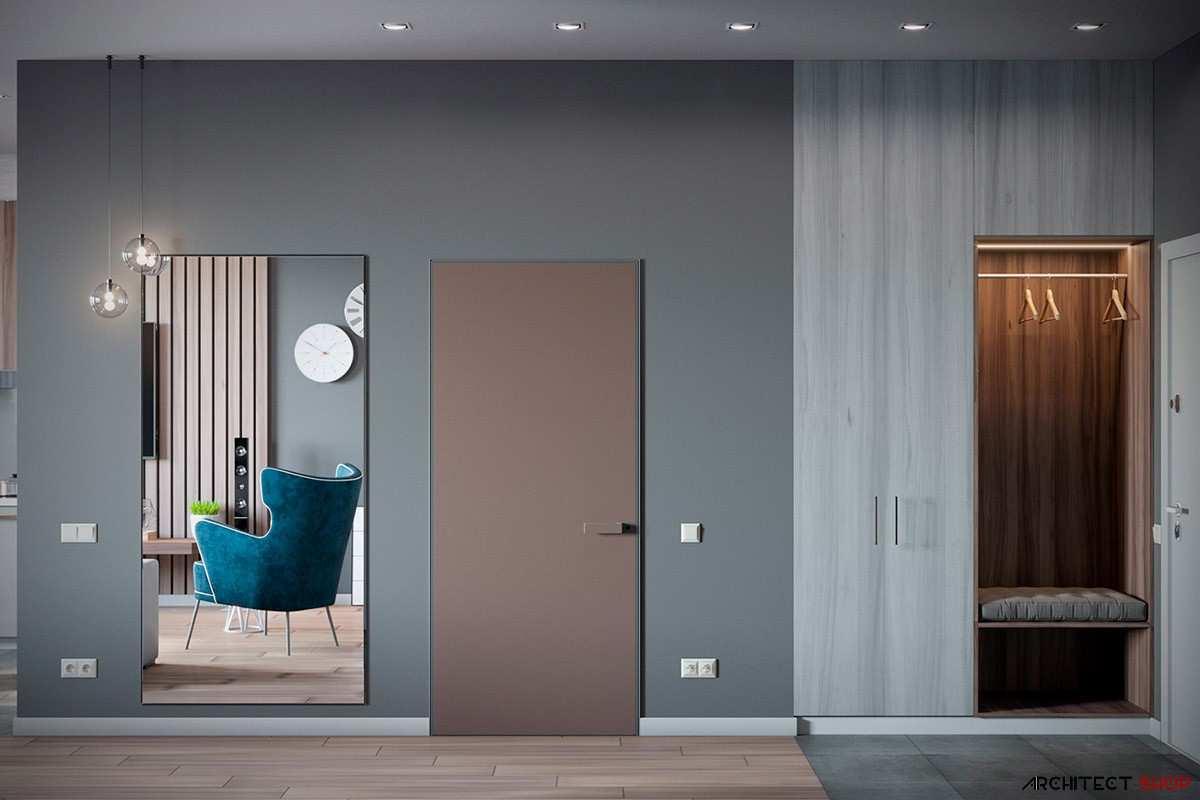 طراحی داخلی 3 نمونه آپارتمان با تم خاکستری - Grey Based Decor 7