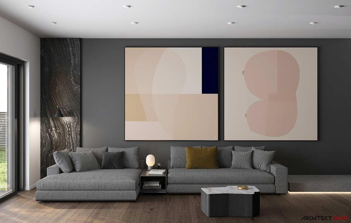 طراحی داخلی 3 نمونه آپارتمان با تم خاکستری - Grey Based Decor 8