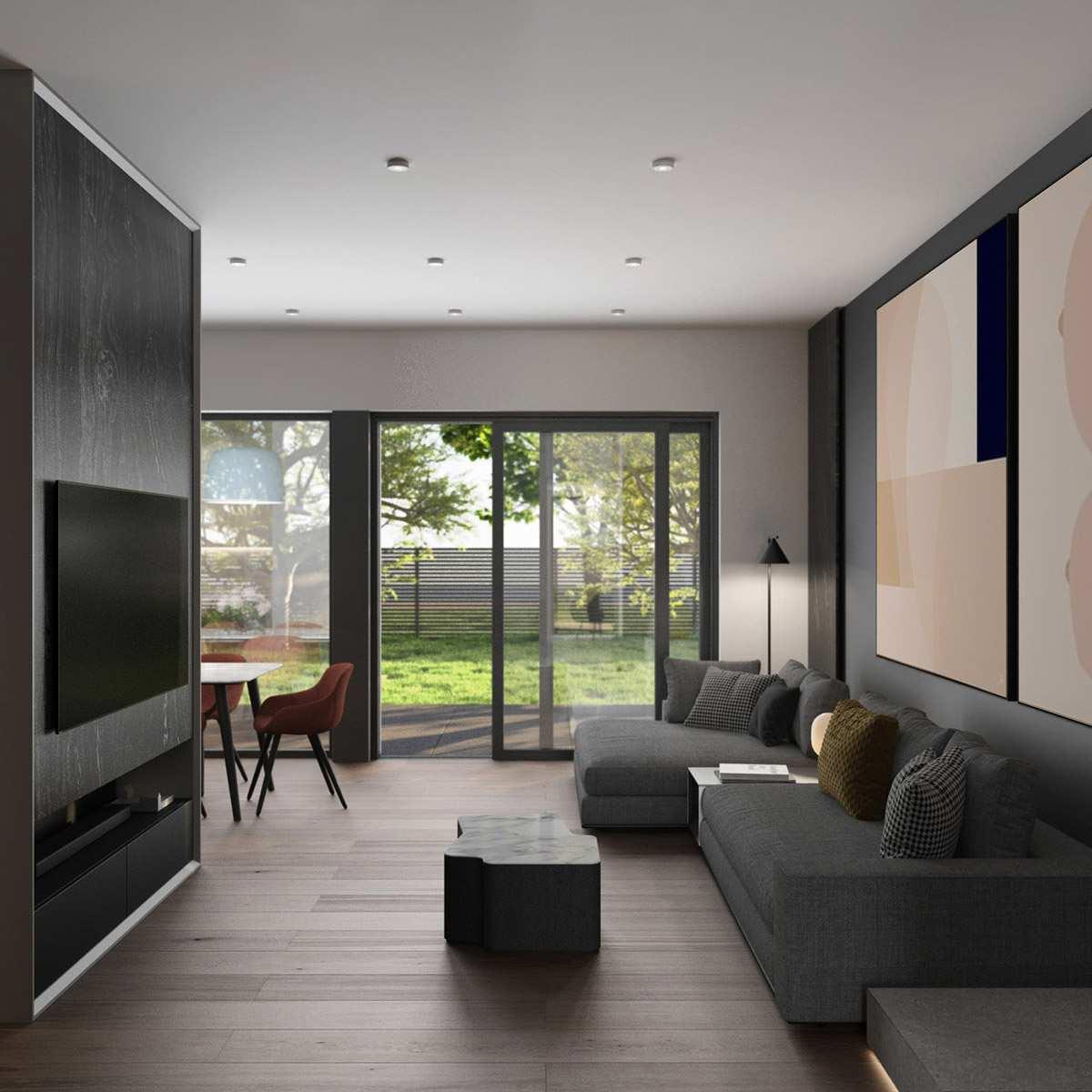 طراحی داخلی 3 نمونه آپارتمان با تم خاکستری - Grey Based Decor 9