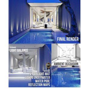 آموزش طراحی ویلای آبی رنگ در 3ds Max و Vray - blue villa 3dsmax 300x300