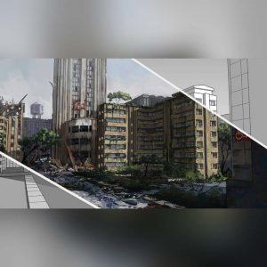 آموزش طراحی و مدل سازی یک شهر در اسکچاپ و پست پروداکشن در فتوشاپ - environment concept sketchup 300x300