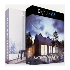 آموزش طراحی داخلی و خارجی ساختمان در 3ds Max و Photoshp - exterior interior tutorial  300x300