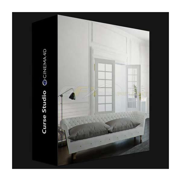 آموزش طراحی داخلی با Vray در Cinema 4D - interior vray cinema4d 600x600