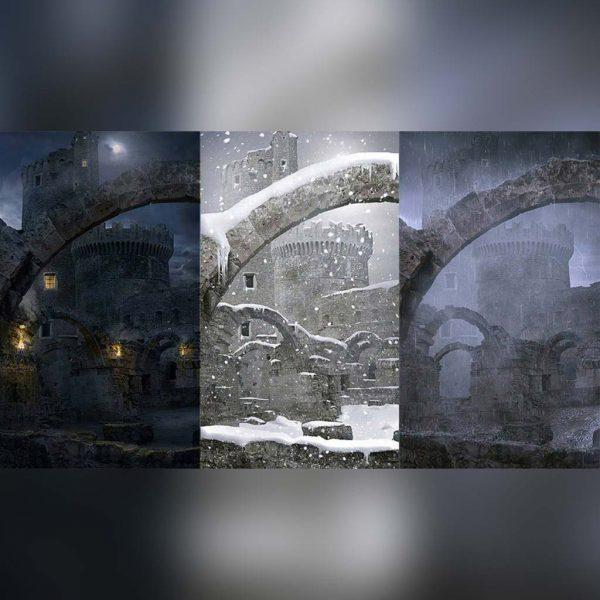 آموزش پست پروداکشن و Matte Painting شرایط مختلف جوی در فتوشاپ - matte painting different atmosphere 600x600