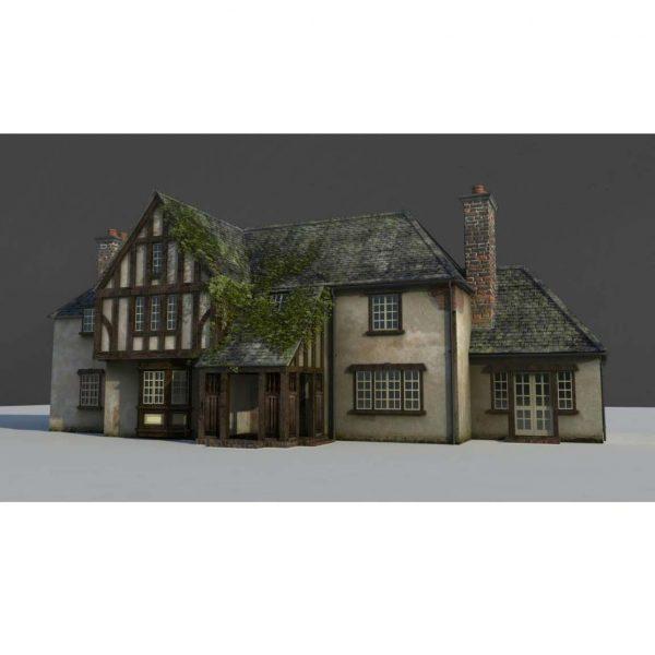 آموزش طراحی ویلا درMaya - modeling house maya 21 600x600