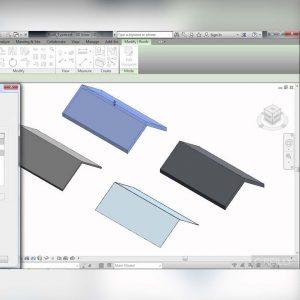 آموزش طراحی و مدل سازی سقف شیب دار در Revit - revit roof design 300x300