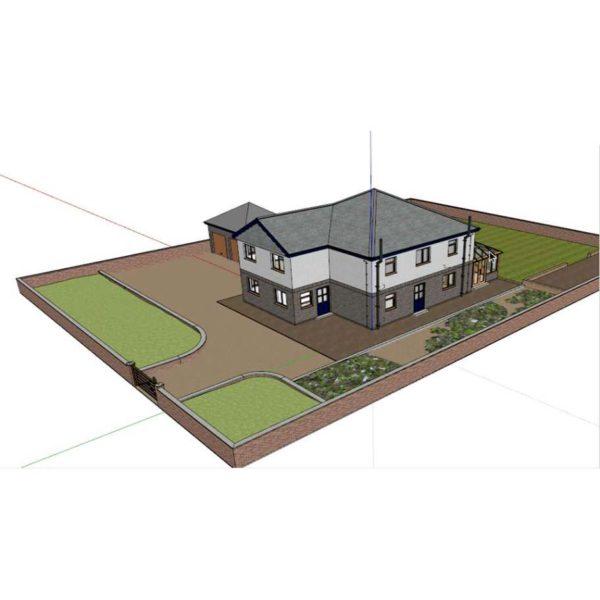 آموزش ترسیم جزئیات معماری در SketchUp - sketchup architecture details 600x600