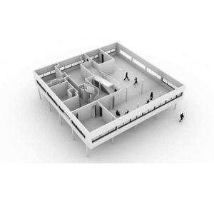 آموزش طراحی و مدل سازی ویلا Savoye در Rhino - villa savoye rhino 300x300