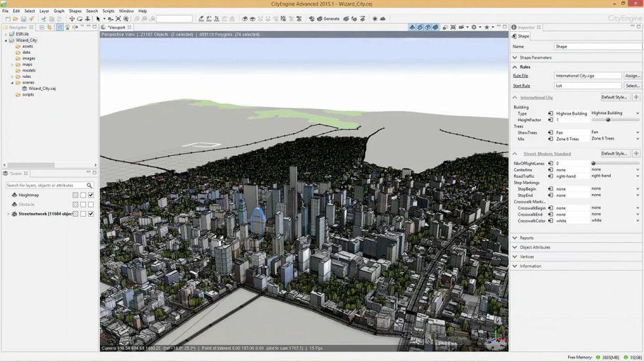 آموزش ساخت شهر با CityEngine