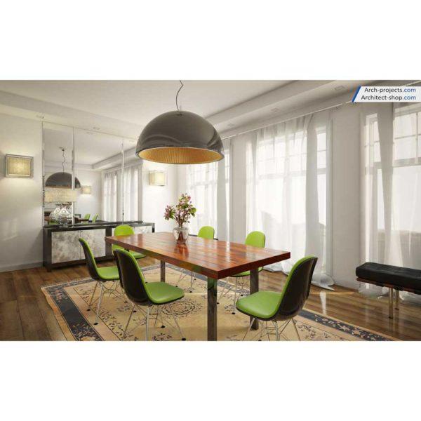 آموزش حرفه ایی طراحی داخلی و رندرینگ در 3d max و vray - contemporary dining room 3 1 600x600