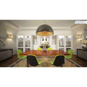 آموزش حرفه ایی طراحی داخلی و رندرینگ در 3d max و vray - contemporary dining room 300x300