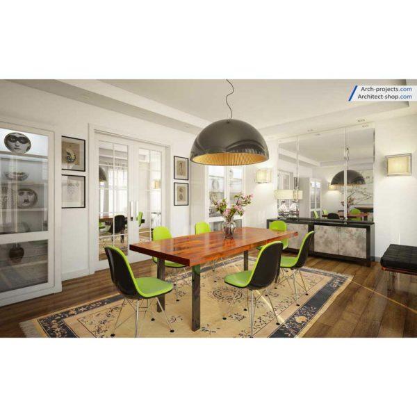 آموزش حرفه ایی طراحی داخلی و رندرینگ در 3d max و vray - contemporary dining room 4 1 600x600
