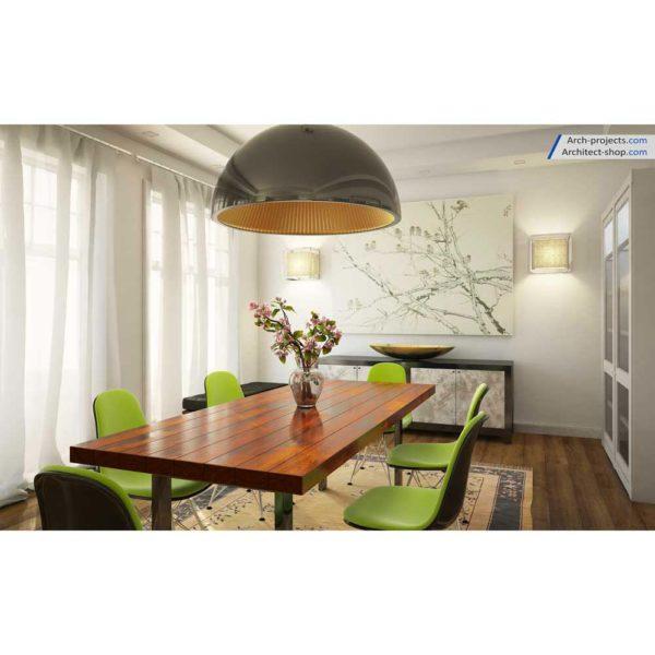 آموزش حرفه ایی طراحی داخلی و رندرینگ در 3d max و vray - contemporary dining room 5 1 600x600