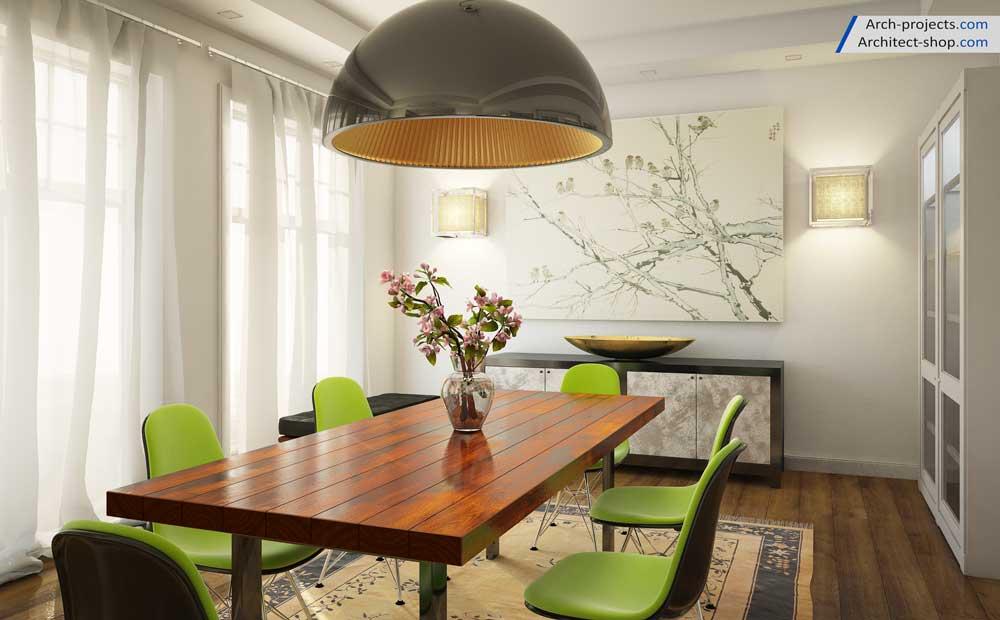 طراحی داخلی سالن غذاخوری