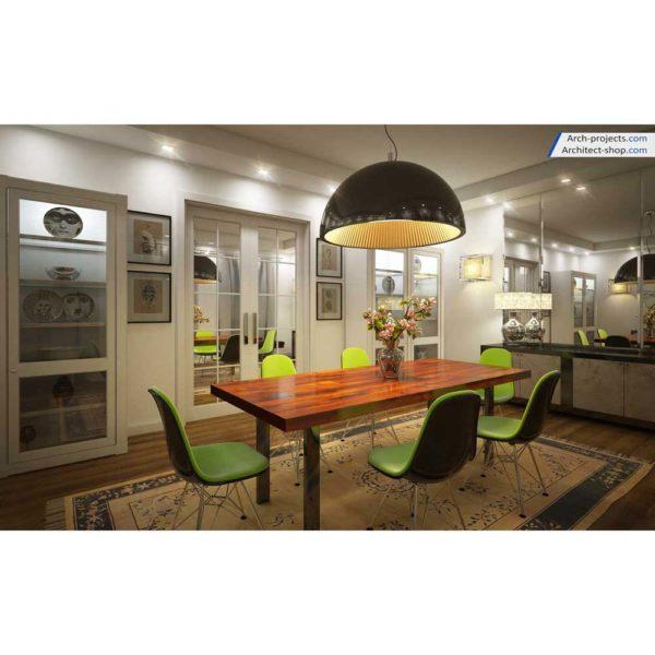 آموزش حرفه ایی طراحی داخلی و رندرینگ در 3d max و vray - contemporary dining room 6 1 600x600