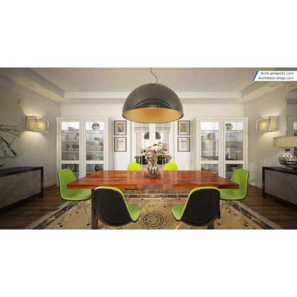 آموزش حرفه ایی طراحی داخلی و رندرینگ در 3d max و vray - contemporary dining room 600x600