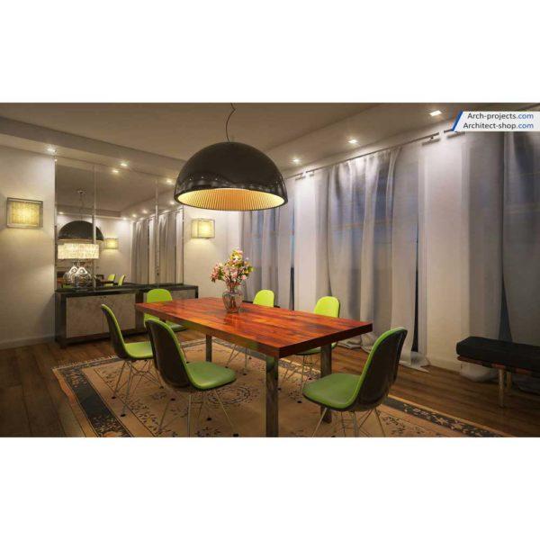 آموزش حرفه ایی طراحی داخلی و رندرینگ در 3d max و vray - contemporary dining room.jpg 1 600x600