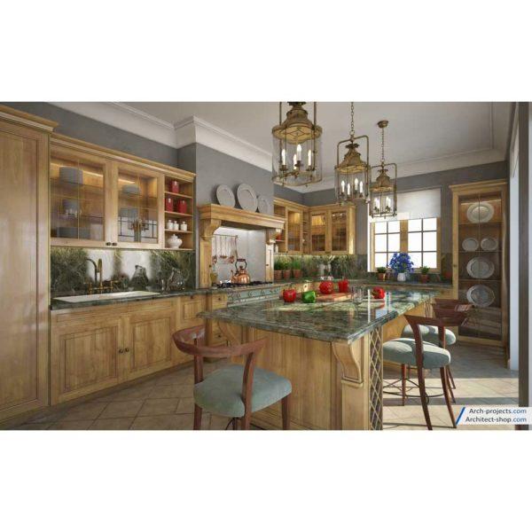 آموزش طراحی آشپزخانه کلاسیک در تری دی مکس - kitchen modeling training 1 1 600x600