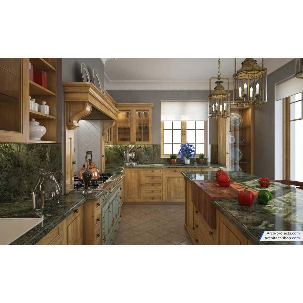 آموزش طراحی آشپزخانه کلاسیک در تری دی مکس