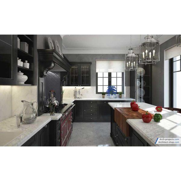 آموزش طراحی آشپزخانه کلاسیک در تری دی مکس - kitchen modeling training 4 1 600x600