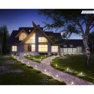 آموزش مدل سازی و رندرینگ ویلا در تری دی مکس - modeling rendering exterior villa 1 300x300