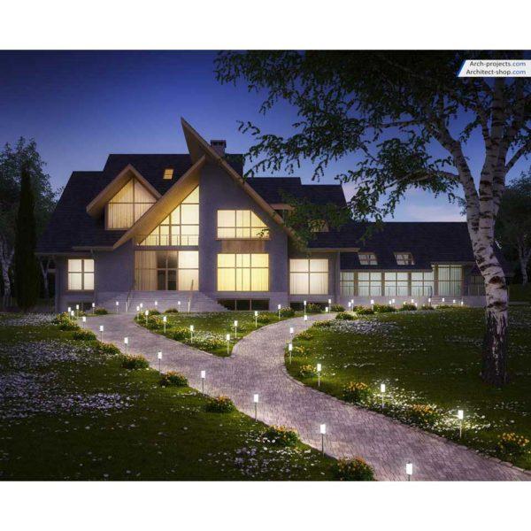 آموزش مدل سازی و رندرینگ ویلا در تری دی مکس - modeling rendering exterior villa 1 600x600