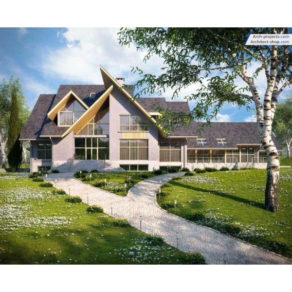 آموزش مدل سازی و رندرینگ ویلا در تری دی مکس - modeling rendering exterior villa 2 600x600