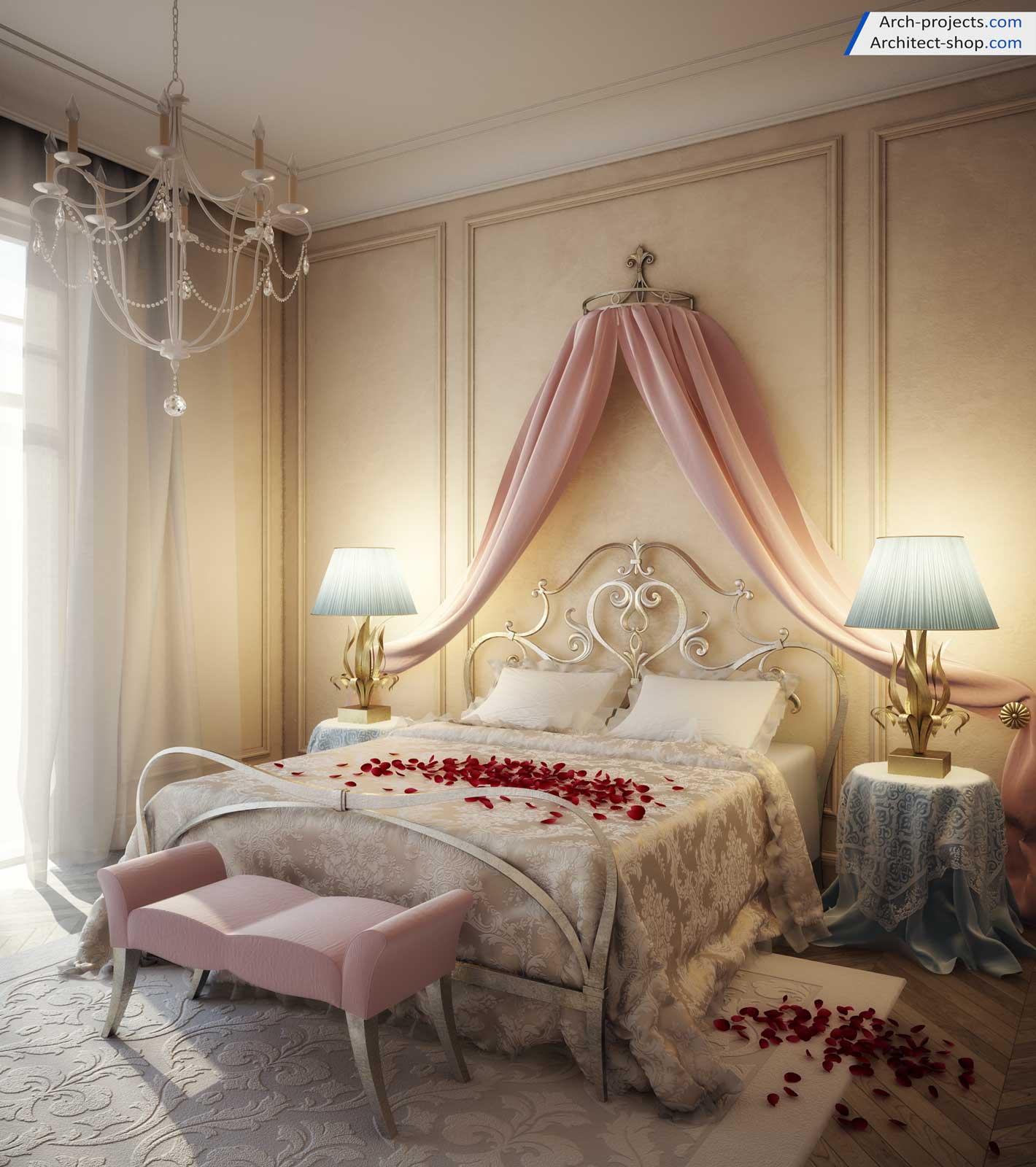 آموزش طراحی اتاق خواب کلاسیک در تری دی مکس