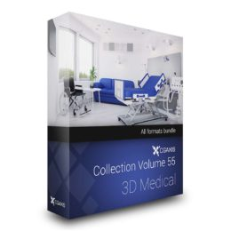 مدل سه بعدی لوازم پزشکی از CGAxis