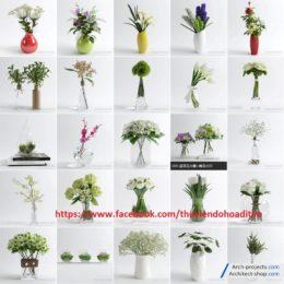 دانلود رایگان مدل سه بعدی گلدان دکوری