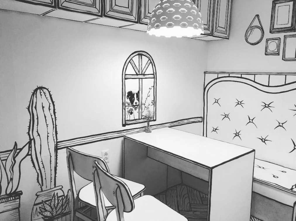 طراحی خلاقانه کافی شاپ با الهام از یک فیلم فانتزی - Cafe Yeonnam dong 10 1