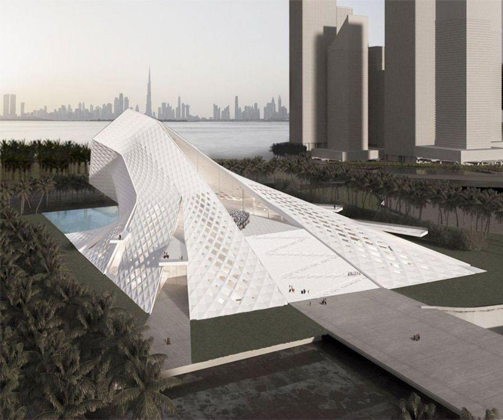 طراحی مسجد معاصر دبی با تاثیرپذیری از ماهیت نور - Dubai mosque 3 2